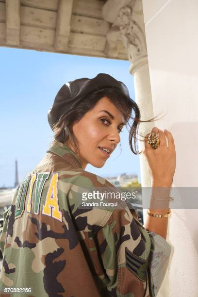 Actress Reem Kherici is photographed for Self Assignment on October 2017 in Paris France