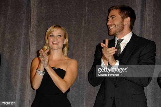 Actress Reese Witherspoon and Actor Jake Gyllenhaal at the The 32nd Annual Toronto International Film Festival Rendition Premiere at Roy Thompson...