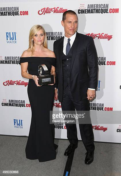 Actress Reese Witherspoon and actor Matthew McConaughey attend the 29th American Cinematheque Award Honoring Reese Witherspoon - Arrivals at the...