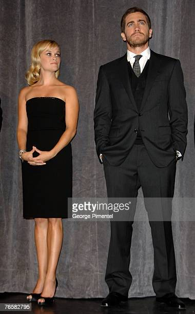 Actress Reese Witherspoon and actore Jake Gyllenhaal at the The 32nd Annual Toronto International Film Festival Rendition Premiere at Roy Thompson...