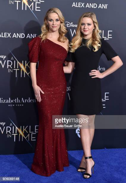 Actress Reese Witherspoon and daughter Ava Phillippe arrive at the premiere of Disney's 'A Wrinkle In Time' at El Capitan Theatre on February 26 2018...