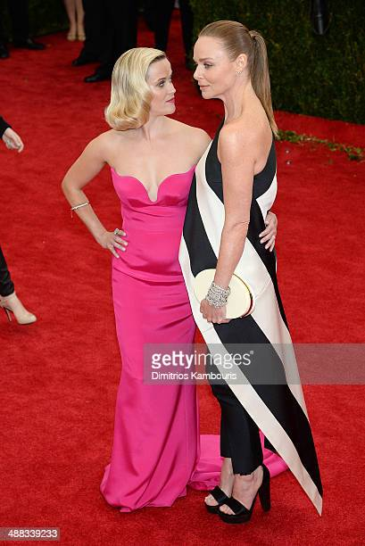 Actress Reese Witherspoon and designer Stella McCartney attend the 'Charles James Beyond Fashion' Costume Institute Gala at the Metropolitan Museum...