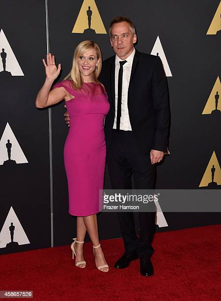 Actress Reese Witherspoon and director JeanMarc Vallee attend the Academy Of Motion Picture Arts And Sciences' 2014 Governors Awards at The Ray Dolby...