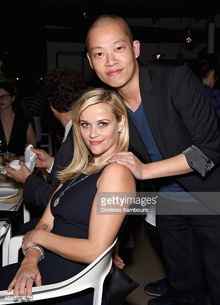 Actress Reese Witherspoon and fashion designer Jason Wu attend the Tiffany & Co. Celebration of the 2015 Blue Book Collection on April 15, 2015 in...