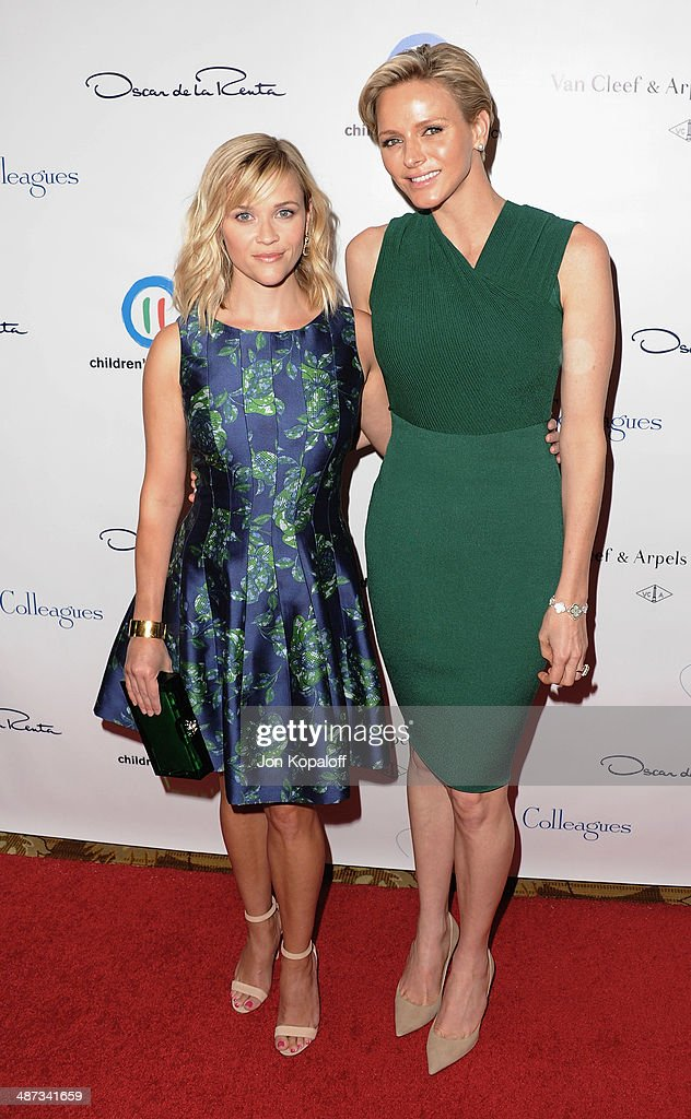 Actress Reese Witherspoon and her serene highness, Princess Charlene of Monaco attend The Colleagues' 26th Annual Spring Luncheon at Regent Beverly Wilshire Hotel on April 29, 2014 in Beverly Hills, California.