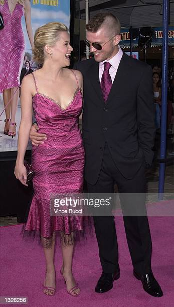 "Actress Reese Witherspoon and husband, actor Ryan Phillippe, attend the premiere of MGM Pictures'' ""Legally Blonde"" June 26, 2001 in Los Angeles, CA."