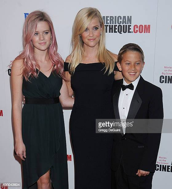 Actress Reese Witherspoon and kids Ava Phillippe and Deacon Reese Phillippe arrive at the 29th American Cinematheque Award honoring Reese Witherspoon...
