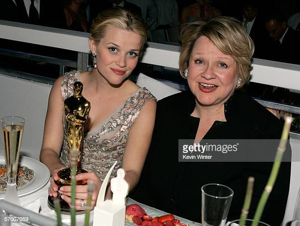 Actress Reese Witherspoon and mother Betty attend the Governor's Ball after the 78th Annual Academy Awards at The Highlands on March 5 2006 in...
