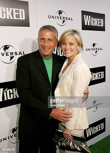 Actress Reese Witherspoon and producer Marc Platt arrive at the Los Angeles Premiere of the Broadway musical Wicked at the Pantages Theatre on June...