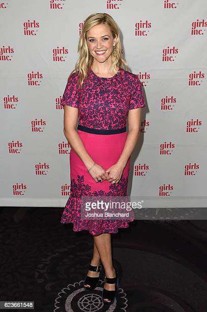 Actress Reese Witherspoon arrives at Girls Inc Los Angeles Celebration Luncheon at The Beverly Hilton Hotel on November 16 2016 in Beverly Hills...