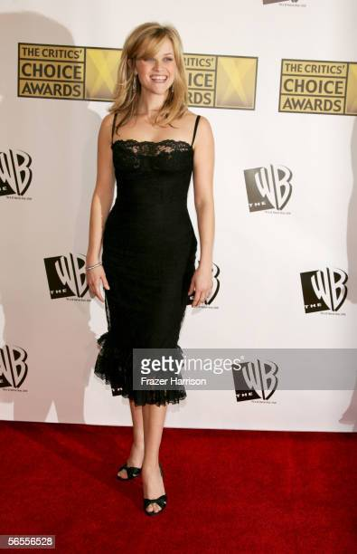 Actress Reese Witherspoon arrives at the 11th Annual Critics' Choice Awards held at the Santa Monica Civic Auditorium on January 9, 2006 in Santa...