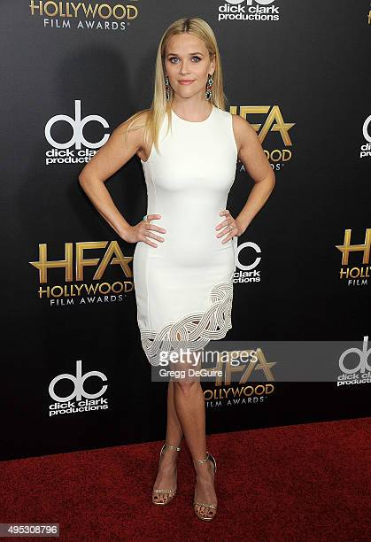 Actress Reese Witherspoon arrives at the 19th Annual Hollywood Film Awards at The Beverly Hilton Hotel on November 1 2015 in Beverly Hills California