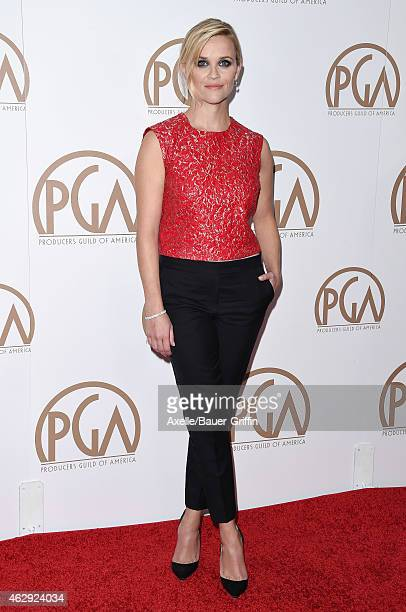 Actress Reese Witherspoon arrives at the 26th Annual PGA Awards at the Hyatt Regency Century Plaza on January 24 2015 in Los Angeles California