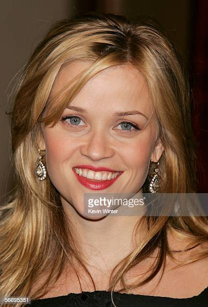 Actress Reese Witherspoon arrives at the 58th Annual Directors Guild Of America Awards held at Hyatt Regency Century Plaza on January 28 2006 in Los...