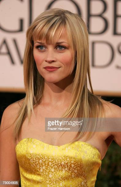 Actress Reese Witherspoon arrives at the 64th Annual Golden Globe Awards at the Beverly Hilton on January 15 2007 in Beverly Hills California