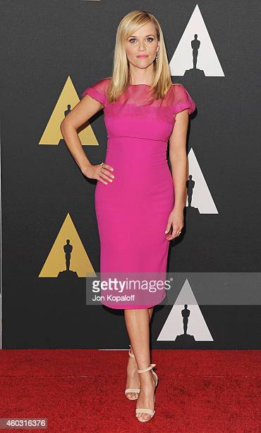 Actress Reese Witherspoon arrives at the Academy Of Motion Picture Arts And Sciences' Governors Awards at The Ray Dolby Ballroom at Hollywood &...