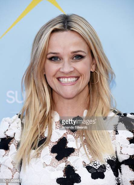Actress Reese Witherspoon arrives at the ATT Hello Sunshine launch celebration of 'Shine On With Reese' at NeueHouse Hollywood on August 6 2018 in...