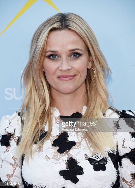 """Actress Reese Witherspoon arrives at the AT&T & Hello Sunshine launch celebration of """"Shine On With Reese"""" at NeueHouse Hollywood on August 6, 2018..."""
