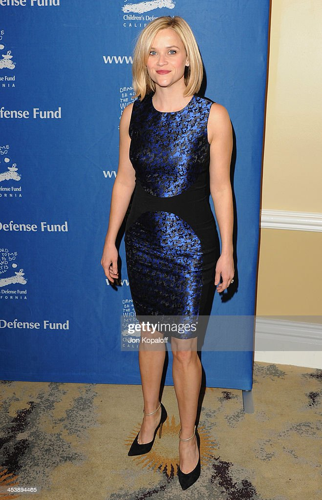 Actress Reese Witherspoon arrives at the Children's Defense Fund 23rd Annual Beat The Odds Awards at Beverly Hills Hotel on December 5, 2013 in Beverly Hills, California.