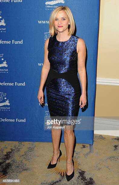 Actress Reese Witherspoon arrives at the Children's Defense Fund 23rd Annual Beat The Odds Awards at Beverly Hills Hotel on December 5 2013 in...