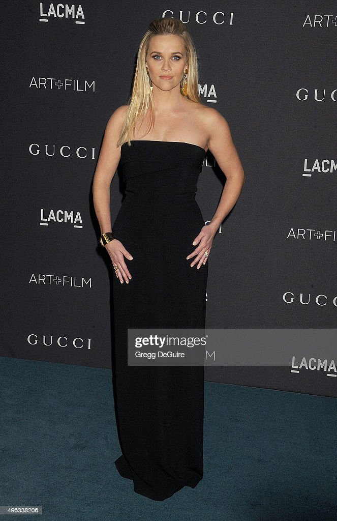 Actress Reese Witherspoon arrives at the LACMA 2015 Art+Film Gala Honoring James Turrell And Alejandro G Inarritu, Presented By Gucci at LACMA on November 7, 2015 in Los Angeles, California.