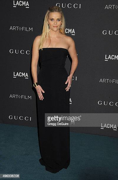 Actress Reese Witherspoon arrives at the LACMA 2015 ArtFilm Gala Honoring James Turrell And Alejandro G Inarritu Presented By Gucci at LACMA on...