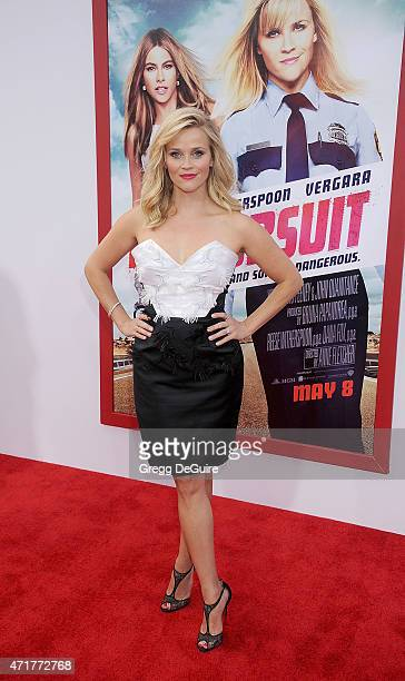"""Actress Reese Witherspoon arrives at the Los Angeles premiere of """"Hot Pursuit"""" at TCL Chinese Theatre IMAX on April 30, 2015 in Hollywood, California."""