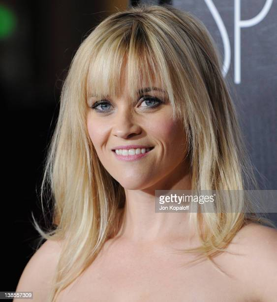 """Actress Reese Witherspoon arrives at the Los Angeles Premiere """"This Means War"""" at Grauman's Chinese Theatre on February 8, 2012 in Hollywood,..."""