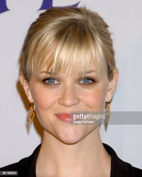 Actress Reese Witherspoon arrives at the Penelope premiere at the Directors Guild of America Theater on February 20 2008 in West Hollywood California