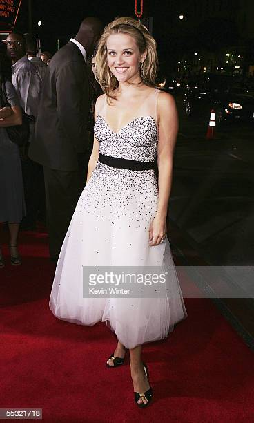 Actress Reese Witherspoon arrives at the premiere of DreamWorks Picture's Just Like Heaven at the Chinese Theater on September 8 2005 in Los Angeles...