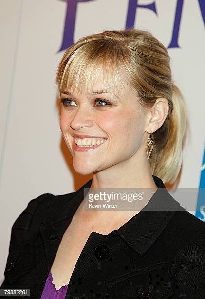 Actress Reese Witherspoon arrives at the premiere of Summit Entertainment's 'Penelope' held at the Director's Guild of America on February 20 2008 in...