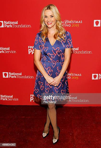 Actress Reese Witherspoon arrives to host the 93rd Annual National Christmas Tree Lighting at The Ellipse on December 3 2015 in Washington DC