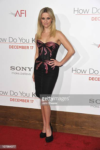 Actress Reese Witherspoon arrives to the How Do You Know Los Angeles Premiere at Regency Village Theatre on December 13 2010 in Westwood California