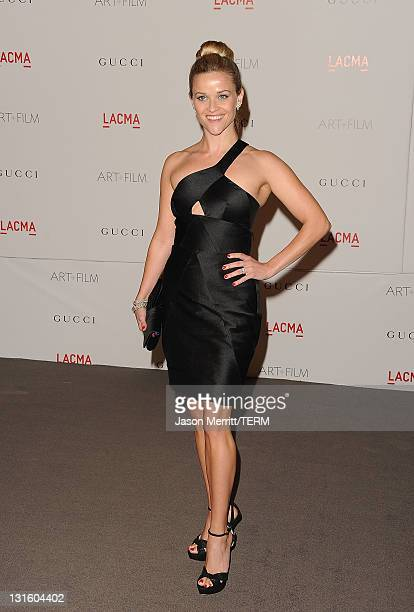 Actress Reese Witherspoon attends LACMA's Art And Film Gala Honoring Clint Eastwood And John Baldessari at LACMA on November 5 2011 in Los Angeles...