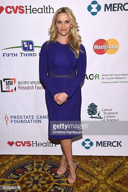 Actress Reese Witherspoon attends Stand Up To Cancer's New York Standing Room Only presented by Entertainment Industry Foundation with donors...