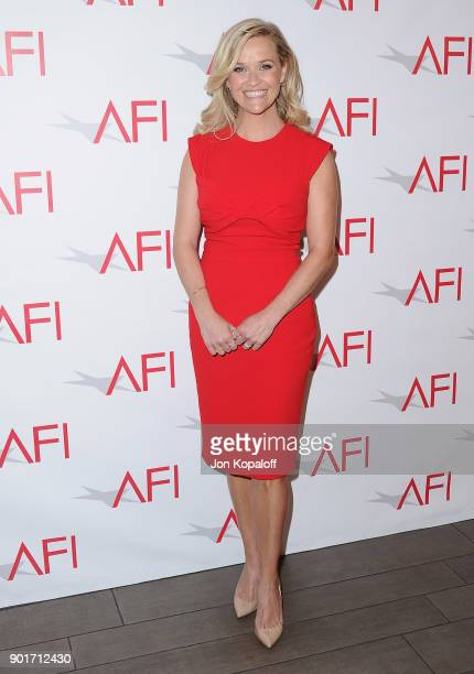 Actress Reese Witherspoon attends the 18th Annual AFI Awards at the Four Seasons Hotel on January 5 2018 in Los Angeles California