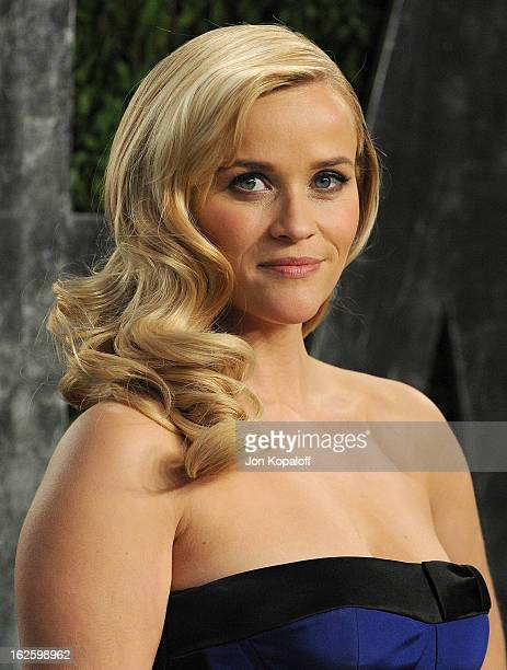 Actress Reese Witherspoon attends the 2013 Vanity Fair Oscar party at Sunset Tower on February 24 2013 in West Hollywood California