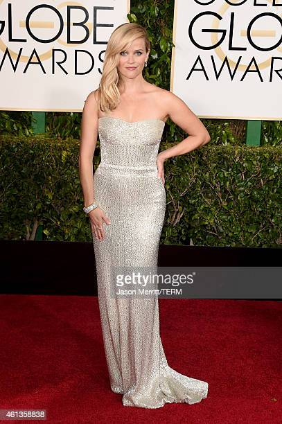 Actress Reese Witherspoon attends the 72nd Annual Golden Globe Awards at The Beverly Hilton Hotel on January 11 2015 in Beverly Hills California