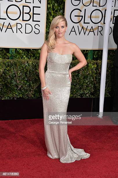 Actress Reese Witherspoon attends the 72nd Annual Golden Globe Awards at The Beverly Hilton Hotel on January 11, 2015 in Beverly Hills, California.