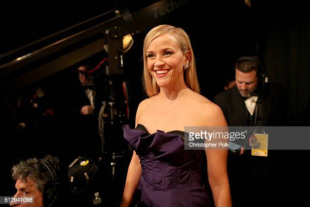 Actress Reese Witherspoon attends the 88th Annual Academy Awards at Dolby Theatre on February 28 2016 in Hollywood California