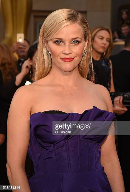 Actress Reese Witherspoon attends the 88th Annual Academy Awards at the Hollywood Highland Center on February 28 2016 in Hollywood California