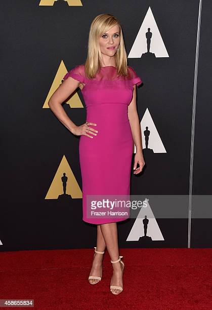 Actress Reese Witherspoon attends the Academy Of Motion Picture Arts And Sciences' 2014 Governors Awards at The Ray Dolby Ballroom at Hollywood...