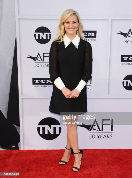 Actress Reese Witherspoon attends the AFI Life Achievement Award gala at Dolby Theatre on June 8 2017 in Hollywood California