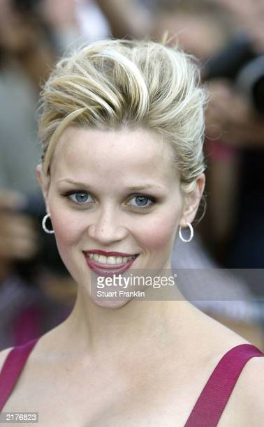 Actress Reese Witherspoon attends the German premiere of her new film Legally Blonde 2 Red White and Blonde at The Cinemax film theatre July 19 2003...