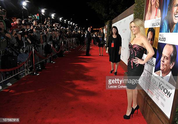Actress Reese Witherspoon attends the How Do You Know Los Angeles Premiere at Regency Village Theatre on December 13 2010 in Westwood California