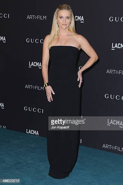 Actress Reese Witherspoon attends the LACMA Art Film Gala honoring Alejandro Gonzalez Iarritu and James Turrell and presented by Gucci at LACMA on...