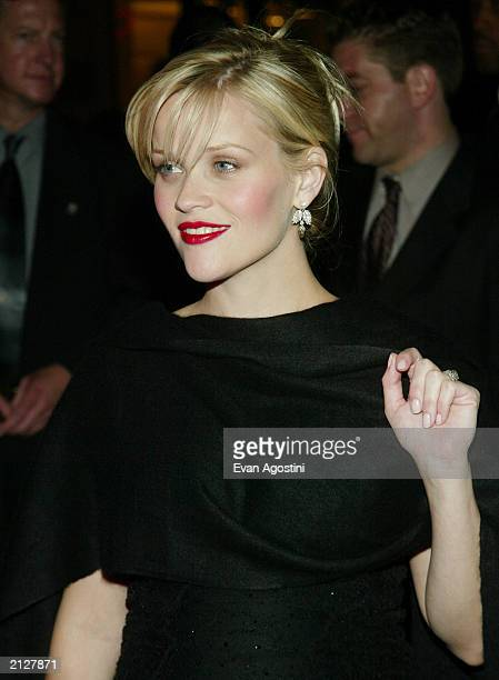 Actress Reese Witherspoon attends the Legally Blonde 2 Red White and Blonde film premiere afterparty at Christie's June 30 2003 in New York City