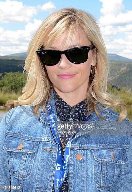 Actress Reese Witherspoon attends the Patron's Brunch at the 2014 Telluride Film Festival Day 1 on August 29 2014 in Telluride Colorado