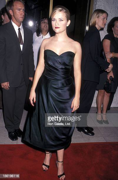 Actress Reese Witherspoon attends the 'Pleasantville' Westwood Premiere on October 19 1998 at Mann National Theatre in Westwood California
