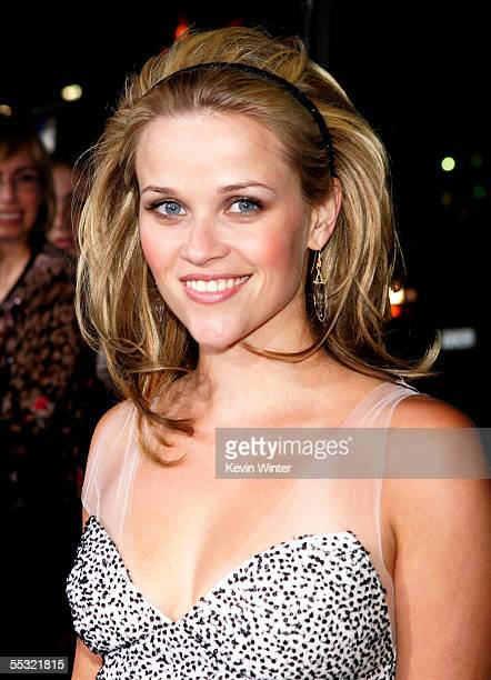 Actress Reese Witherspoon attends the premiere of DreamWorks Picture's Just Like Heaven at the Chinese Theater on September 8 2005 in Los Angeles...